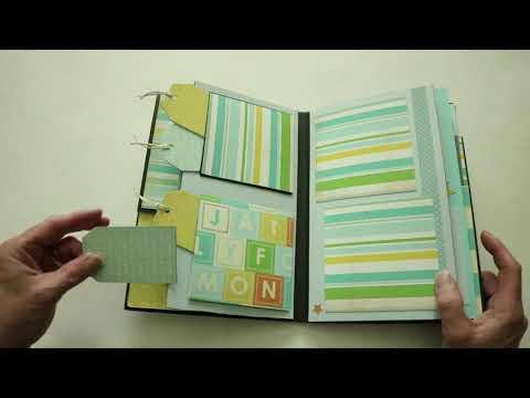 Baby Mine Mini Scrapbook Album  dezalyssdesigns