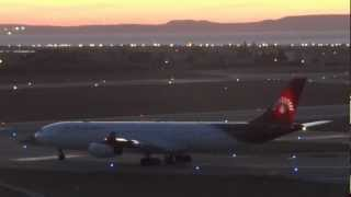 Air Madagascar A340-300 take off at Marseille Provence Airport LFML/MRS