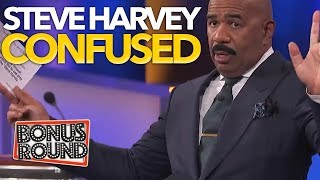 FUNNY! STEVE HARVEY Answers Leave Steve Harvey CONFUSED! Funny Reactions on Family Feud