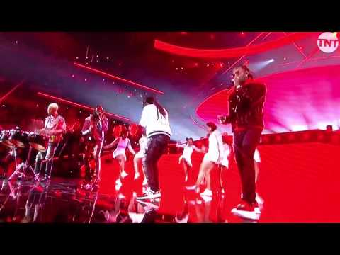 MIGOS LIVE STIR FRY WITH PHARRELL WILLIAMS ALL STAR HALFTIME BEST PERFORMANCE!!
