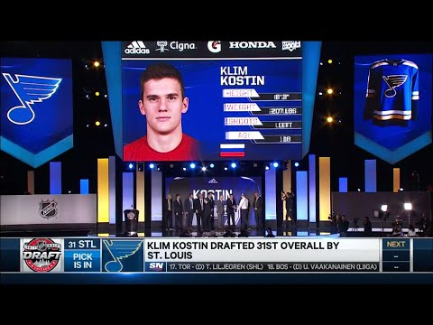 Blues take Kostin with last pick in first round