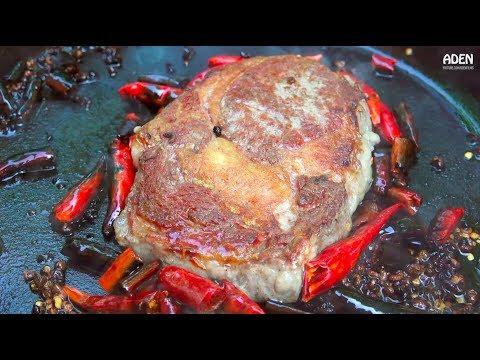 Argentine Steak al Sichuan - Cast Iron Skillet