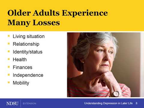 Understanding Depression in Later Life –  Depression & Loss/Grief