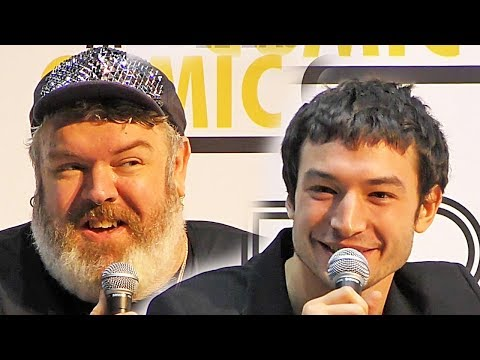 MEFCC Press Conference Dubai (2018) Ezra Miller Kristian Nairn