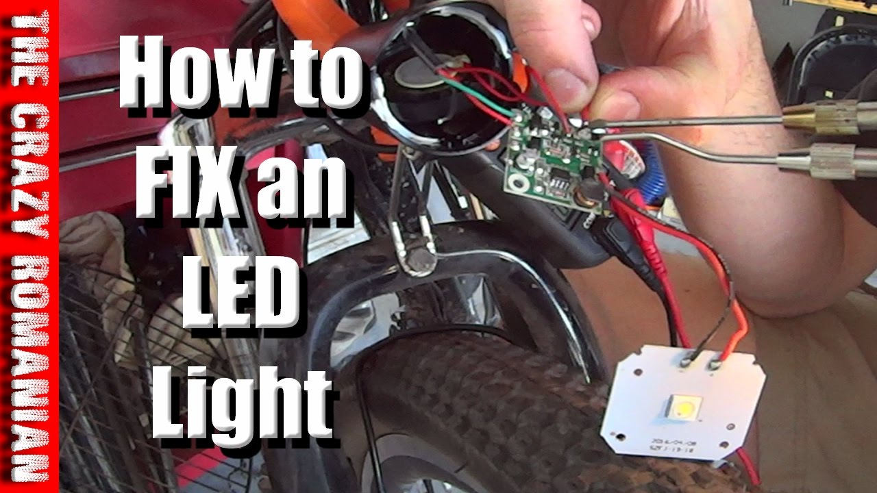 Can You Fix An Led Light Electric Bicycle Ancheer Youtube