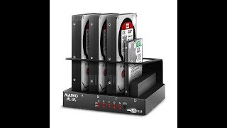 Maiwo K305 4 Bay SATA Hard Drive Docking Station Duplicator USB 3.0  €55.94 Unboxing review