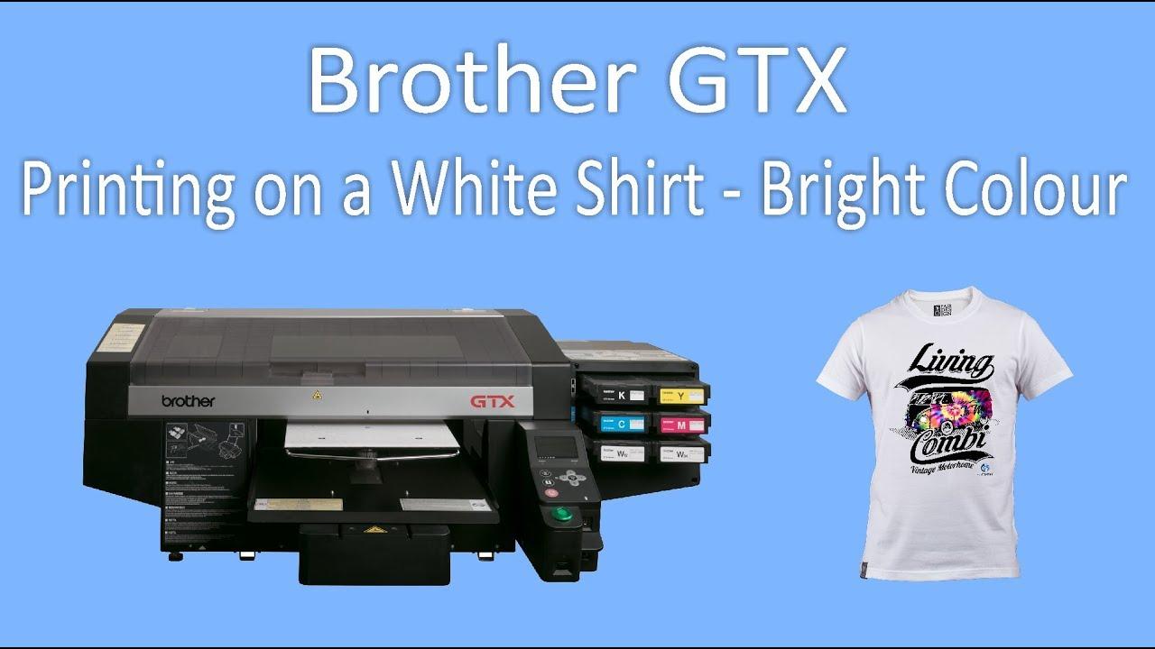 33f9bda14 Brother GTX - Printing on a White Shirt - Bright RGB Design - YouTube