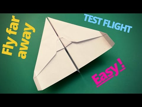 How To Easily Fold The World Best Paper Airplane │ A Paper Plane For Kids.