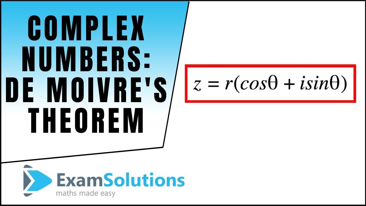 complex numbers de moivre 39 s theorem examsolutions maths revision tutorials youtube. Black Bedroom Furniture Sets. Home Design Ideas