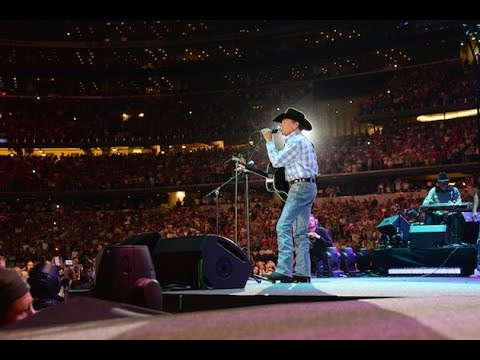 The Cowboy Rides Away George Strait (lyrics on screen)