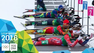 Biathlon Single Mixed Relay - Meng & Zhu (CHN) win gold | ​Lillehammer 2016 ​Youth Olympic Games​