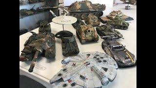 my Plastic Model Collection in 4k video