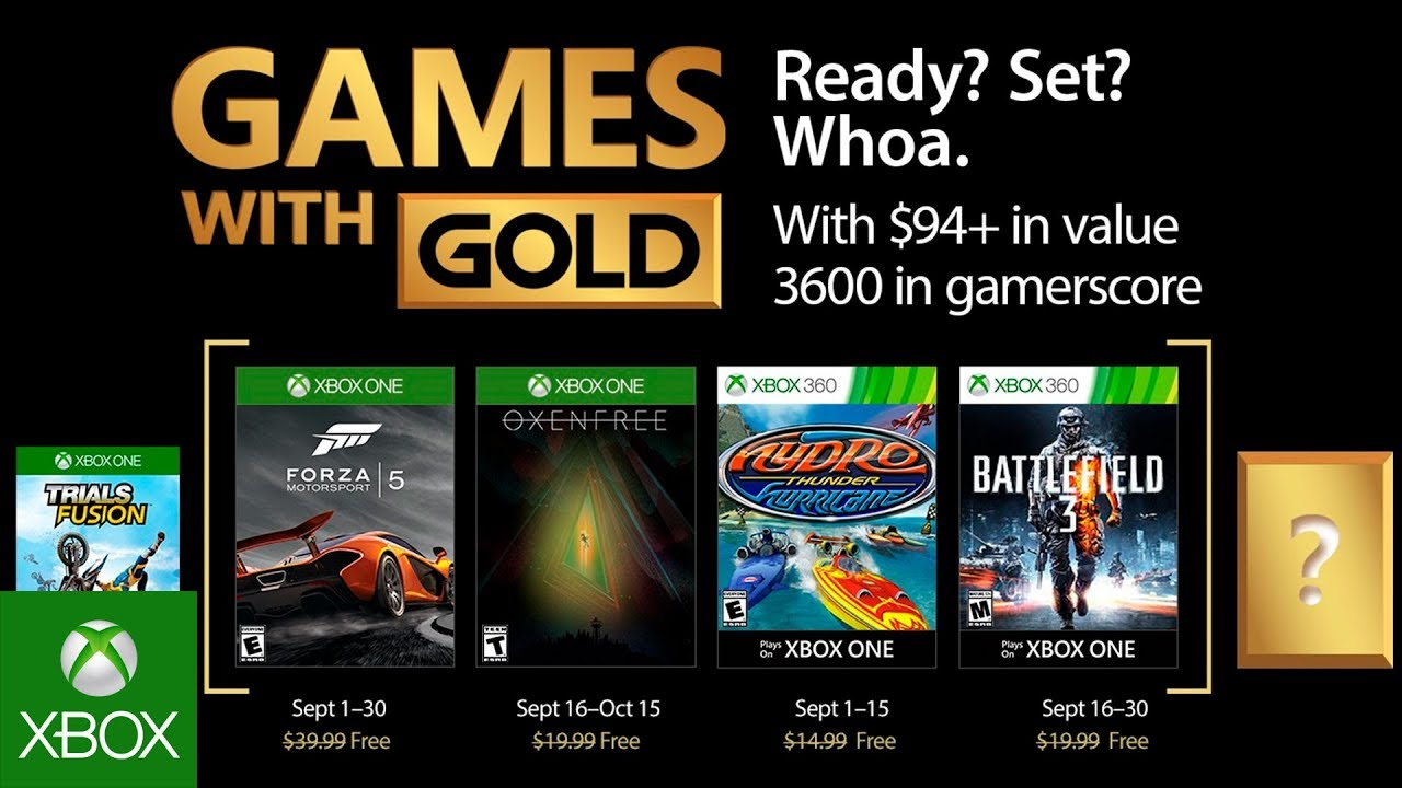 Xbox Free Games September 2020.Xbox Games With Gold Features Oxenfree Forza 5 In September