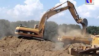 cat 330c ln d6n lgp link belt ls 7b a41 beaumont france 24 07 2006