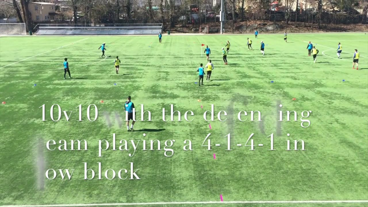 Training using Pep Guardiola's Positional Grid Part#2