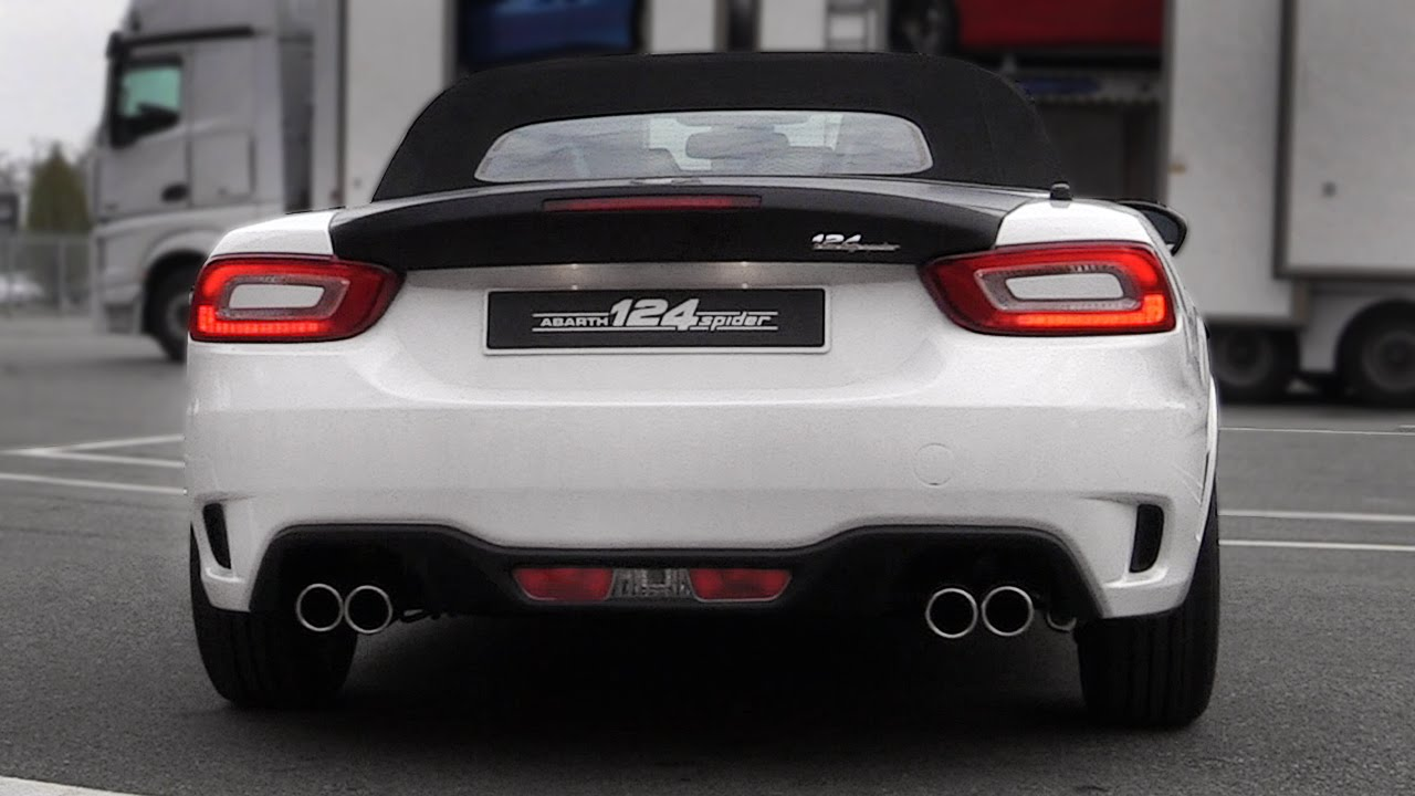 Fiat Abarth 124 Spider Exhaust Soundcheck Engine Start Up Revs You