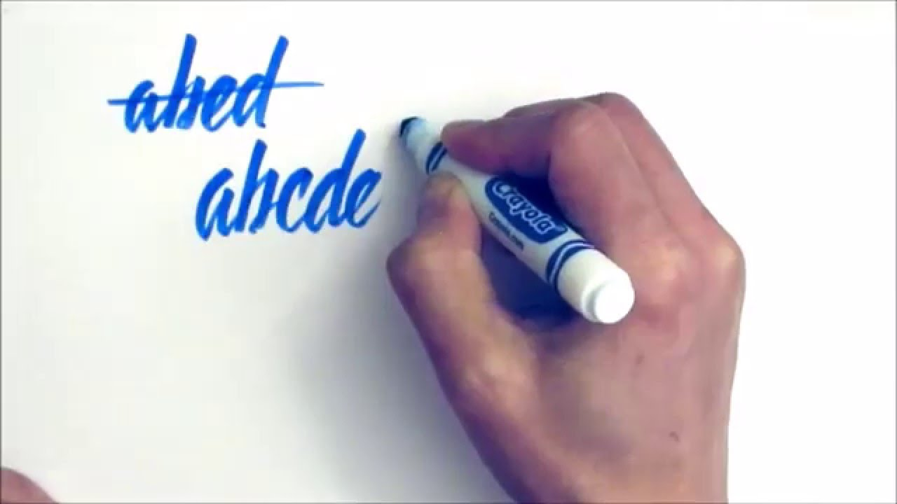 Crayola Marker Calligraphy The Alphabet Youtube