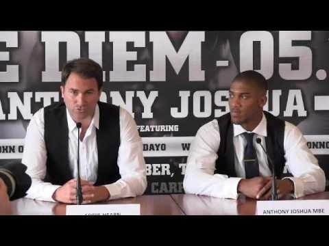 Anthony Joshua joins Matchroom Sport - FULL 'Carpe Diem' press conference