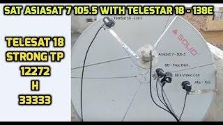 Asia Sat 7 with Telesat 18 at 4 Feet Dish thumbnail