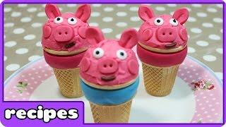 Cupcake Mania  Peppa Pig Ice Cream Recipe  Fun Food Ideas  Learn how to cook