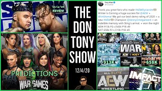 SMACKDOWN 12/4/20 Review; NXT TAKEOVER WAR GAMES PPV Predictions; AEW NXT Quarter Hour Ratings; More