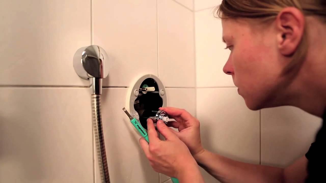 hansgrohe technik installation eines showerselect unterputz thermostats youtube - Unterputz Armatur Dusche Wechseln
