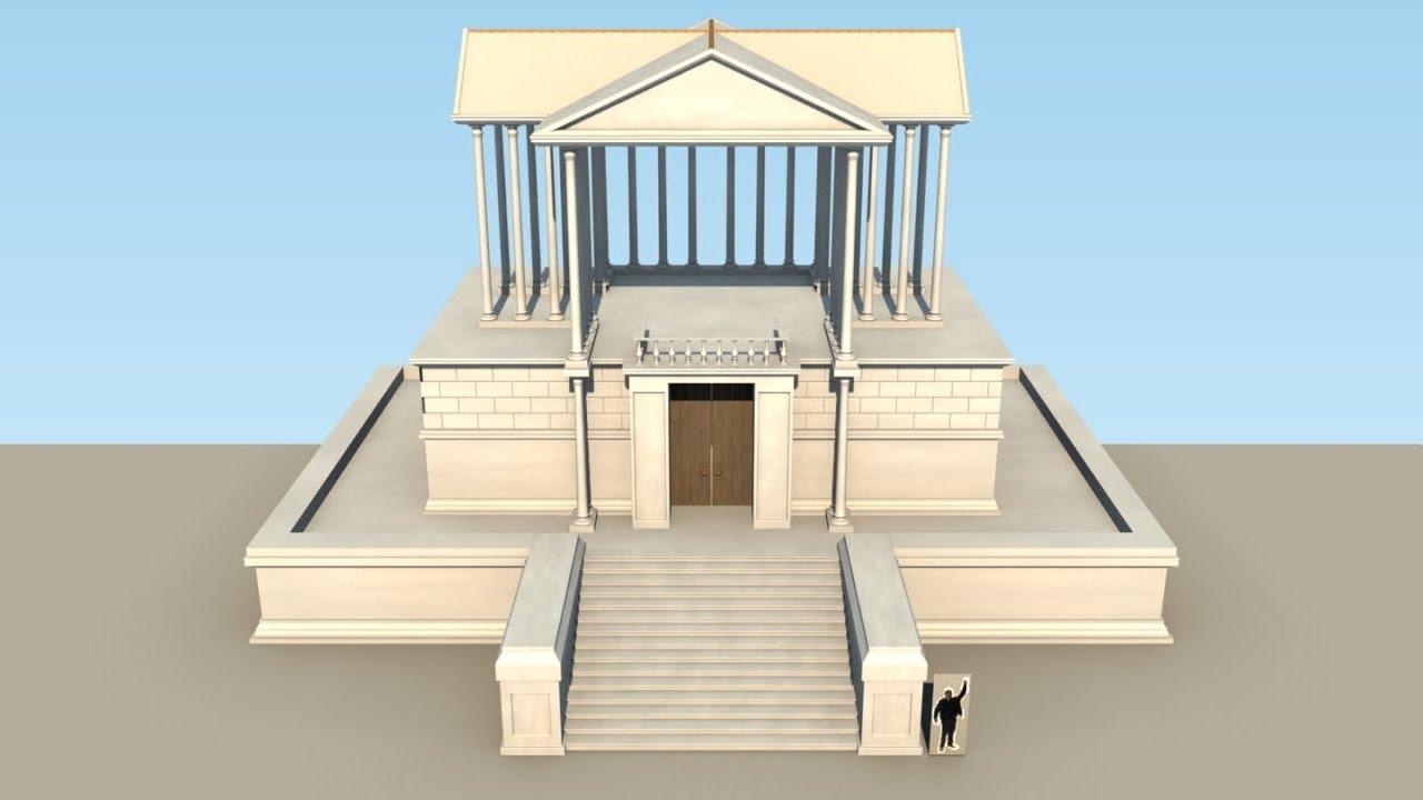 Construction d 39 un temple romain minecraft youtube for Construction maison simple