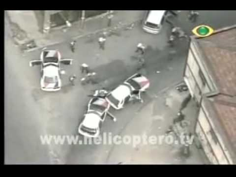 chase cars  persecution recorded live by helicopter - Brazil - São Paulo