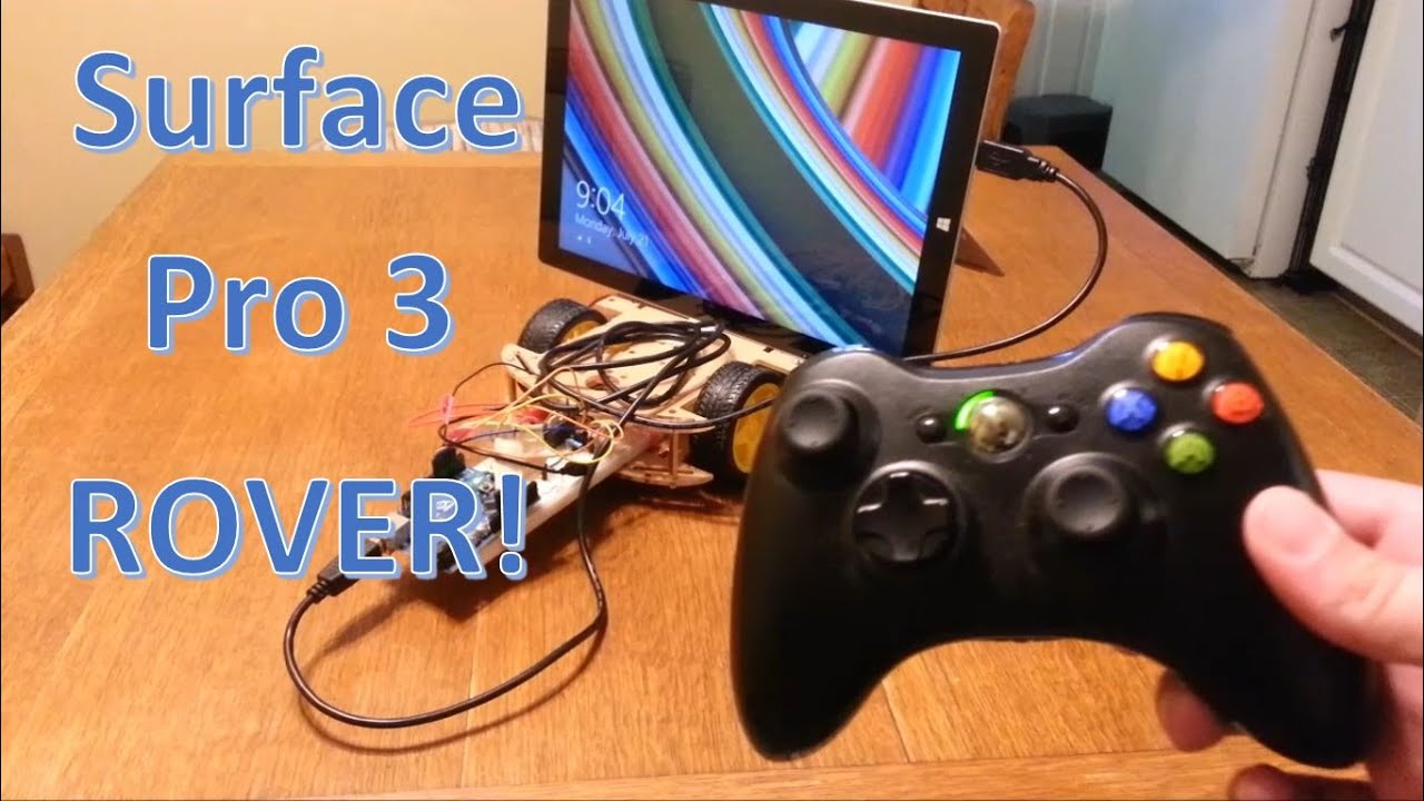 Surface pro arduino rover with xbox controller youtube