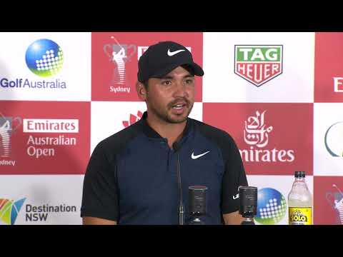 Jason Day chats after round two of the 2017 Emirates Australian Open