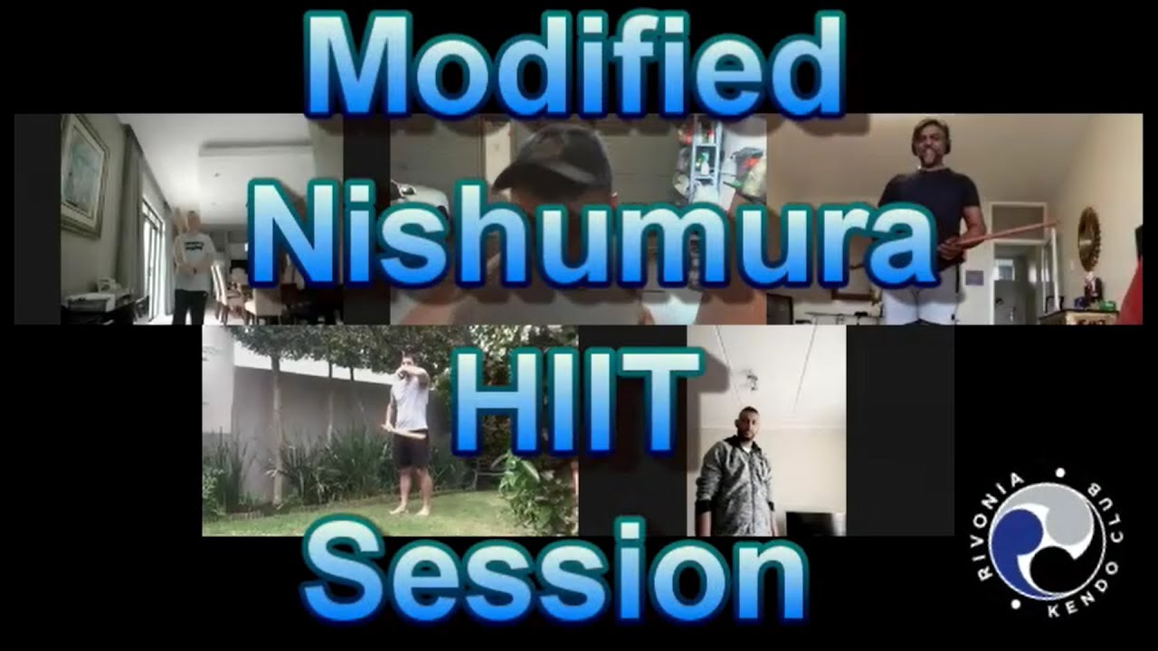 Modified Nishumura KENDO HIIT Session with music from  DRUM TAO