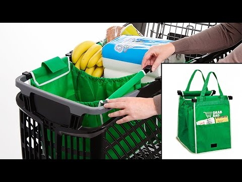 f7f4c0c00 Grab Bag is the Reusable Shopping Bag that Clips to Your Cart - YouTube