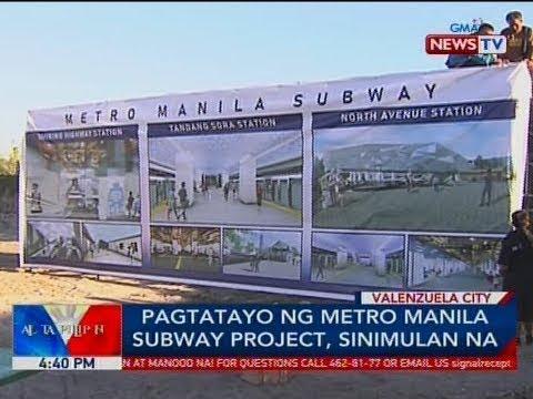 BP: Pagtatayo ng Metro Manila Subway project, sinimulan na