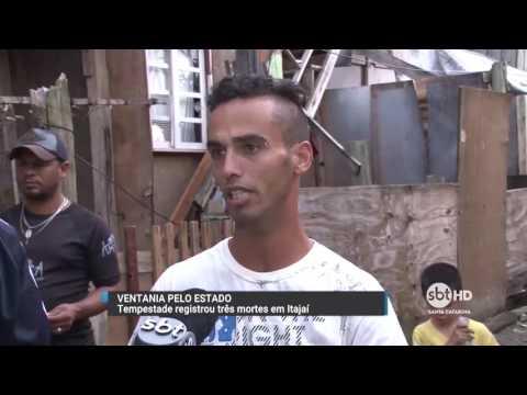 Itajaí decreta situação de emergência em decorrência do forte temporal na noite de terça-feira