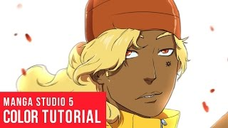 How To Color Anime In Manga Studio 5 [Real Time]