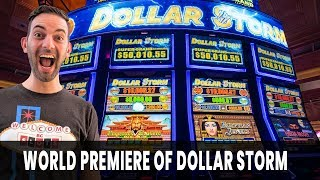 ⚡ WORLD PREMIERE of DOLLAR STORM Slot Machine by Aristocrat 🎰 ONLY at San Manuel Casino #AD