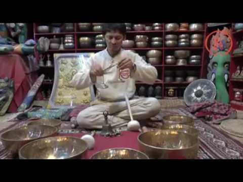 Тибетские поющие чаши дождь