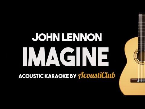 Imagine - John Lennon (Acoustic Guitar Karaoke Version)