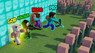 Minecraft NOOB vs PRO vs HACKER vs GOD : VILLAGER APOCALYPSE in Minecraft ! AVM SHORTS Animation
