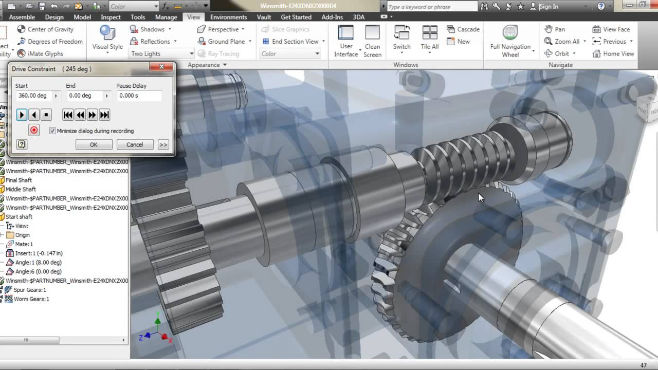 Autodesk inventor gear box animation youtube ccuart Image collections