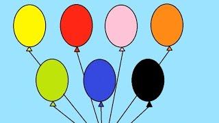 Учим цвета с воздушными шариками на русском Развивающее видео для детей