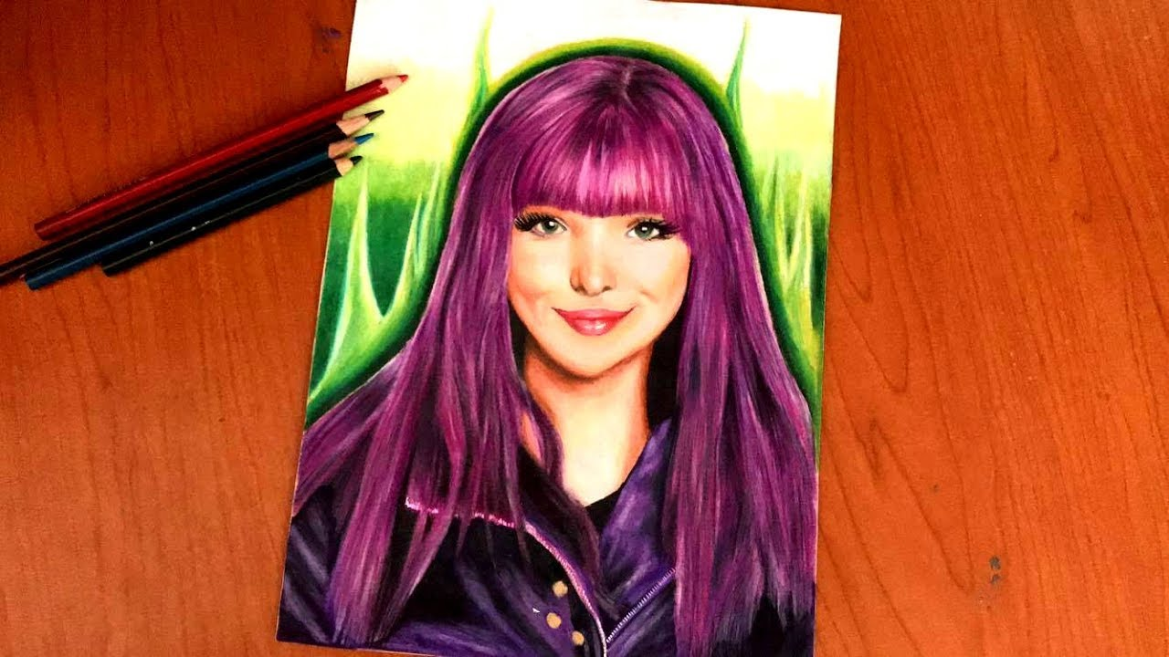 Drawing Mal From Descendants 2