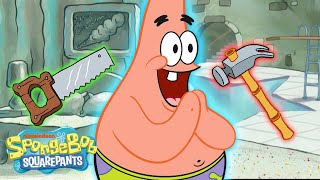 Every Time Patrick Rebuilt His House! 💥🔨 | SpongeBob