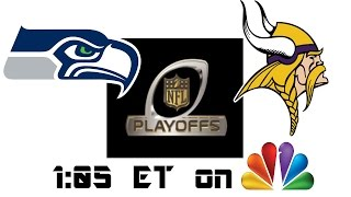 2016 NFL Playoff Predictions - Seahawks vs. Vikings - NFC Wildcard Round