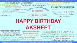 Aksheet   Languages Idiomas - Happy Birthday