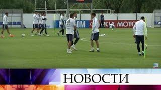 В подмосковных Бронницах проходит открытая тренировка сборной Аргентины с участием Леонеля Месси.