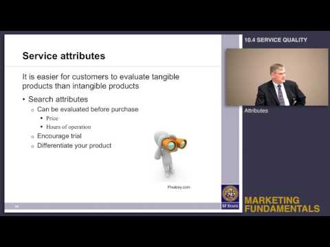 Topic 10.4 Service quality - Definition, attributes