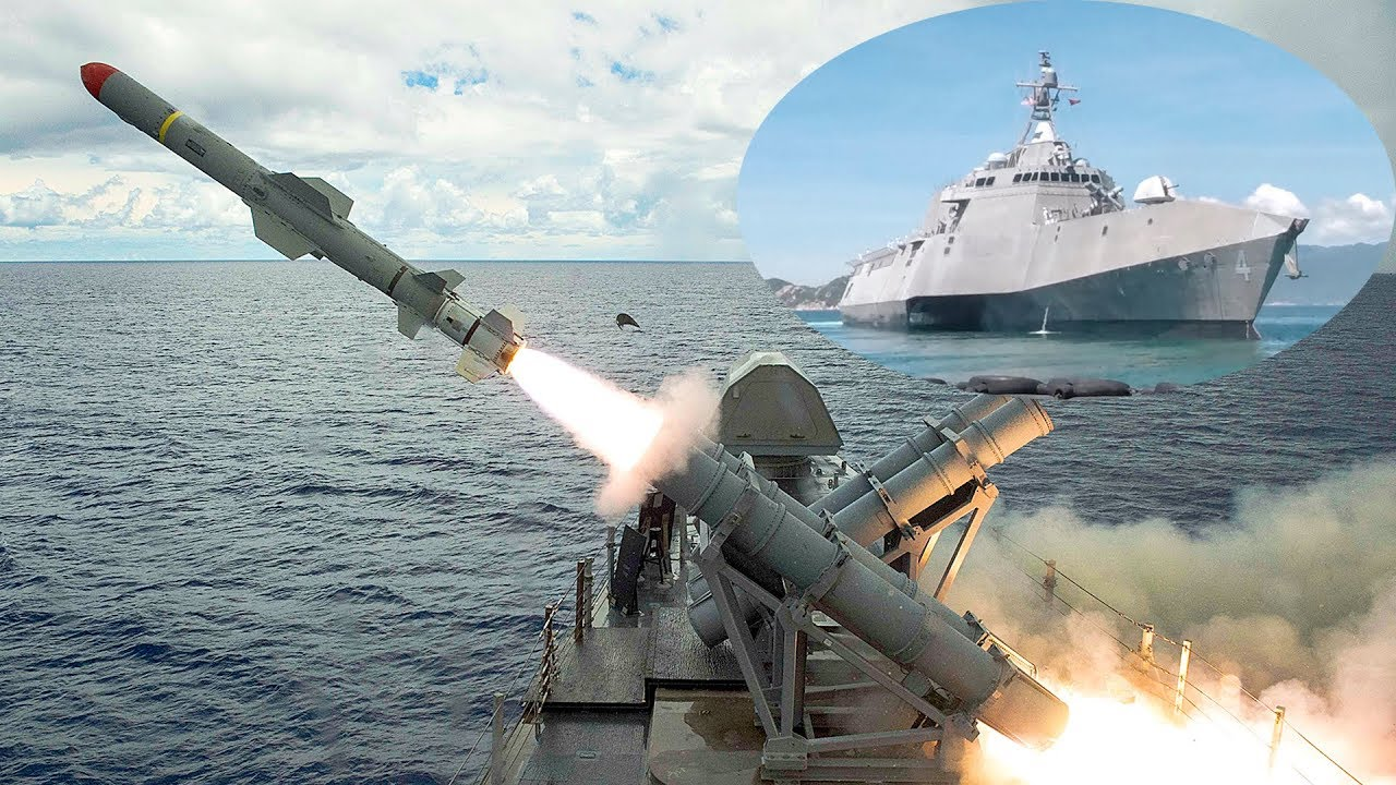 US Navy Ship Test Fires Harpoon Missile Near Guam Amid ...