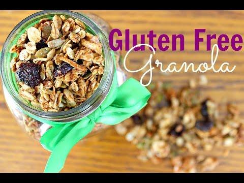 Healthy Gluten Free Granola   Vegan Recipes