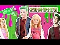 Disney ZOMBIES Dolls - BARBIE & KEN Transform into Addison and ZED - Toy Transformations